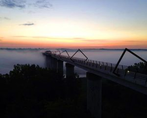 Fog on HTT Bridge