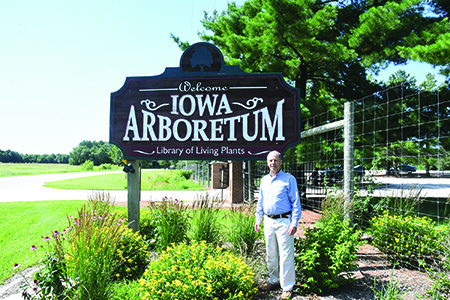Iowa Arboretum front gate